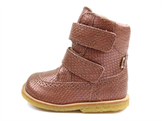 Bisgaard winter boot brown metallic with velcro and TEX