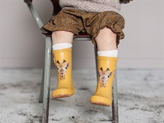 Bisgaard rubber boot yellow with giraffe