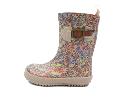 Bisgaard Scandinavia rubber boot beige flowers with buckle