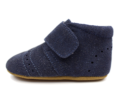 Bisgaard slippers glitter blue with dot pattern