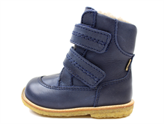 Bisgaard winter boot blue with velcro and TEX