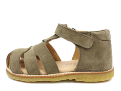 Bisgaard sandal army suede with velcro
