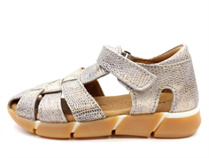 Bisgaard sandal gray glitter with velcro