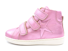 dc5803c46228 Bisgaard leather boot bubblegum metallic with star