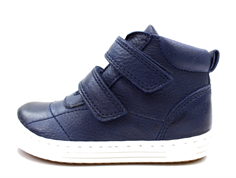 Bisgaard leather boot navy with velcro