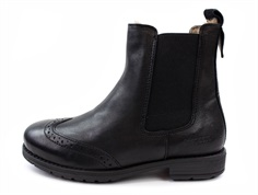 Bisgaard winter ancle boots black with wool lining