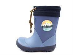 Bisgaard winter rubber boot blue badge with woollining