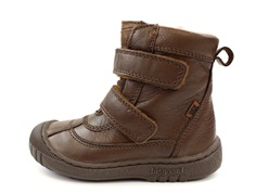 Bisgaard winter boot coffee with velcro and TEX