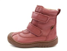 Bisgaard winter boot misty rose with velcro and TEX