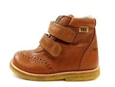 Bisgaard winter boot brandy with velcro and TEX