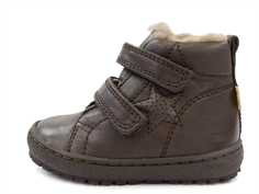 Bisgaard winter toddler shoe brown with velcro and TEX
