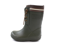 Bisgaard winter rubber boot lace green with wool lining