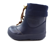 Bisgaard winter rubber boot short blue with wool lining