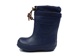 Bisgaard winter rubber boot blue with wool