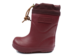 Bisgaard winter rubber boot bordeaux with wool