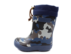Bisgaard winter rubber boot camouflage blue with wool lining
