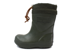Bisgaard winter rubber boot green with wool lining