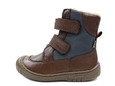 Bisgaard winter boot brown/jeans with velcro and TEX