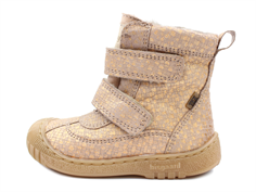 Bisgaard winter boots nude square with velcro and TEX