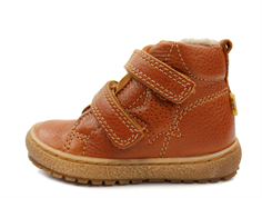 Bisgaard winter toddler shoes cognac with velcro and TEX
