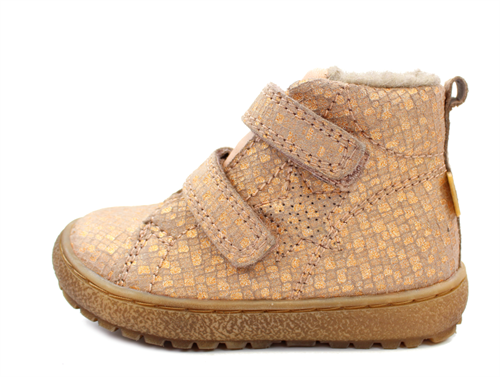 big sale 83691 a298e Bisgaard winter toddler shoes nude square with velcro and TEX