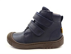 Bisgaard winter boot navy with velcro and TEX