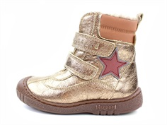 Bisgaard winter boot metallic iron with velcro and TEX