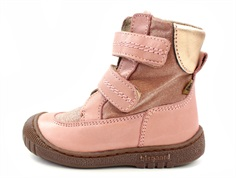 Bisgaard winter boot rose with velcro and TEX