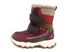 Bisgaard winter boot rose gold with velcro and TEX