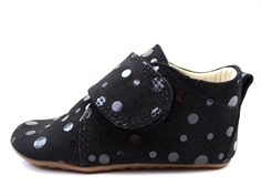 Pom Pom slippers black/black dot