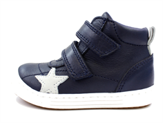 Bisgaard leather boot navy with star
