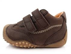 Bundgaard Biis Prewalker brown with rubber sole and velcro
