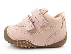 Bundgaard Biis Prewalker old rose with rubber sole and velcro