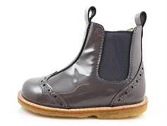 Angulus ancle boot gray patent leather