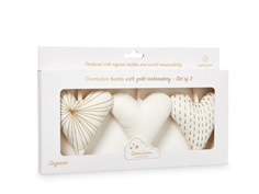 Cam Cam decorative hearts cream white