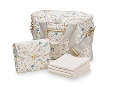 Cam Cam diaper bag bundle pressed leaves rose