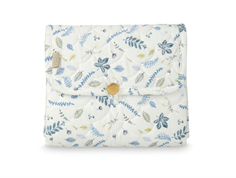 Cam Cam changing pad quilt pressed leaves blue