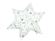 Cam Cam star pillow pressed leaves blue