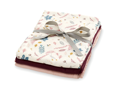 Cam Cam stofble muslin pressed leaves rose/bordeaux/blossom pink (3 pack)