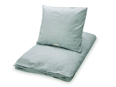 Cam Cam baby bedding dot misty green