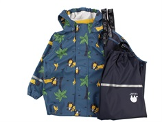 CeLaVi rainwear pants and jacket ice blue with lions