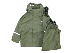 CeLaVi rainwear pants and jacket army