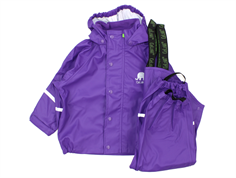 CeLaVi rainwear pants and jacket purple