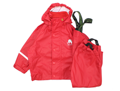 CeLaVi rainwear pants and jacket red