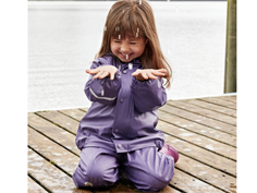 CeLaVi rainwear fleece pants and jacket mulled grap