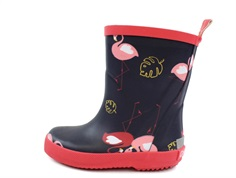 CeLaVi rubber boot navy with flamingos