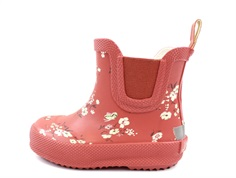CeLaVi rubber boot short redwood with flowers