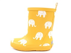 CeLaVi rubber boot mineral yellow with elephants