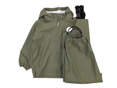 Wheat rainwear Charlie pants and jacket olive