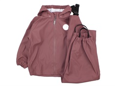 Wheat rainwear Charlie pants and jacket plum
